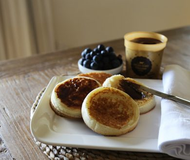 Weekend recipe: homemade crumpets with Lewis Road Chocolate Butter