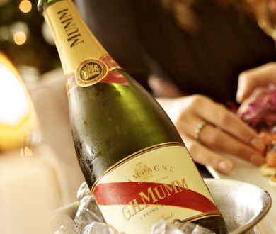 How to pair champagne with food according to G.H. Mumm
