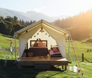 Summer glamping getaways