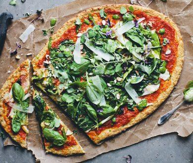 Lighten up lockdown pizza night with this irresistible cauliflower pizza base recipe