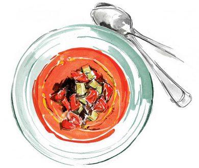 Recipe: Tomato-cucumber gazpacho