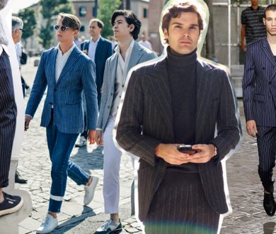 What to wear now: The pinstripe