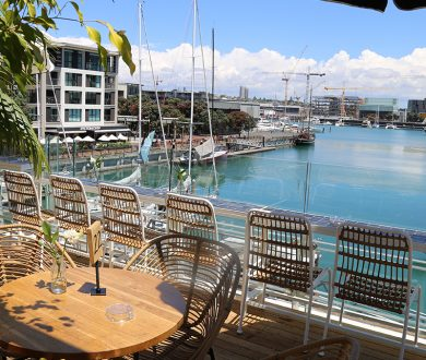 Dr. Rudi's Brewing Co. boasts the finest views in the Viaduct Harbour