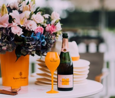 Champagne, flowers and frivolity collide at this unique garden bar