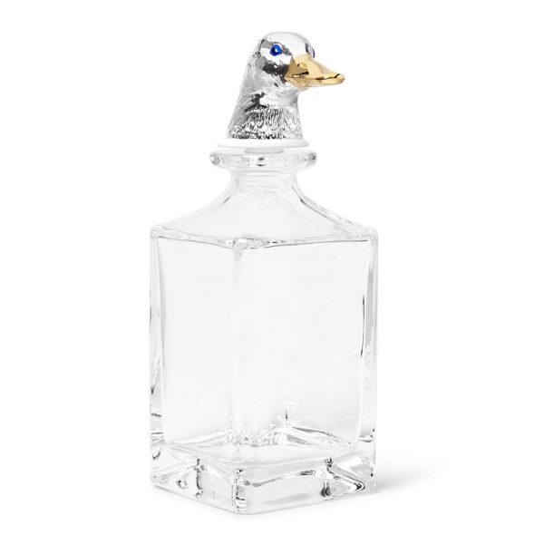 Deakin & Francis + Dartington Crystal Enamelled Duck Decanter