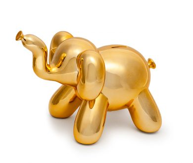 Balloon elephant money bank