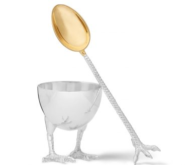 Asprey egg cup and spoon