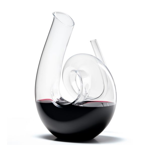 Curly Pink Wine Decanter