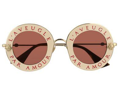 Gucci metal glasses