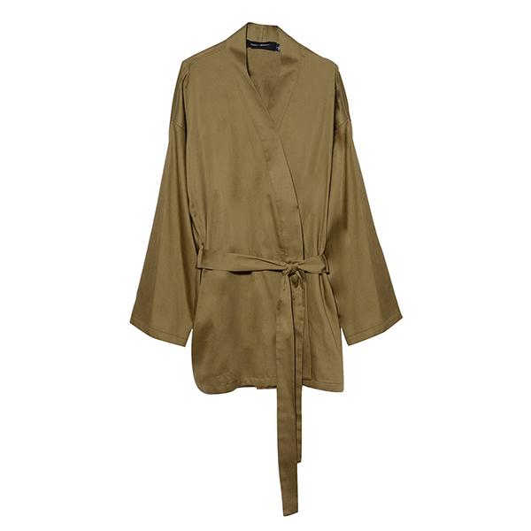 Organic cotton smoking jacket