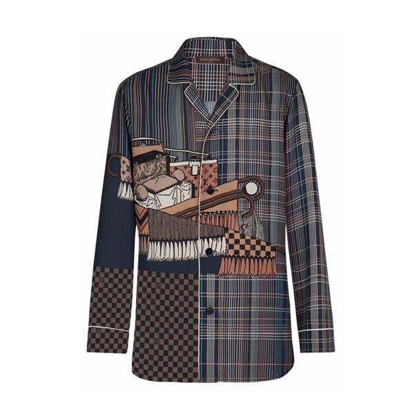 Louis Vuitton Silk Pyjama Shirt