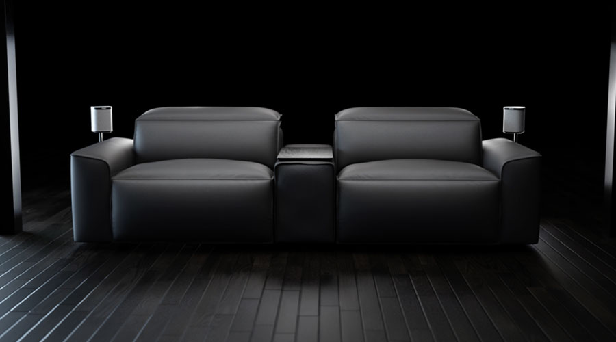 This Hi Tech Sofa Is Making Movie Nights At Home Look