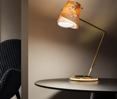 Overlay Desk Lamp by Slamp and Maison Montblanc