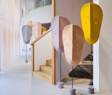 African Mask Installation by GamFrastesi for Kvadrat