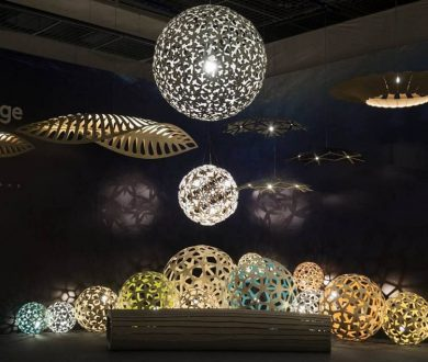 Installation featuring Nightlights & Navicula by David Trubridge