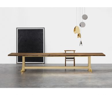 Trunk II table by Philipp Mainzer for e15