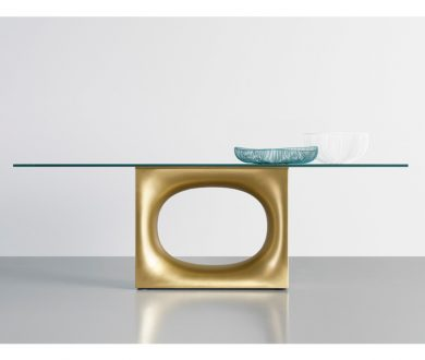 Holo Table Glass by Kensaku Oshiro for Kristalia