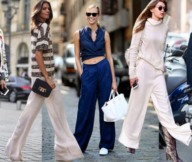 Make way — the wide leg trouser trend is here