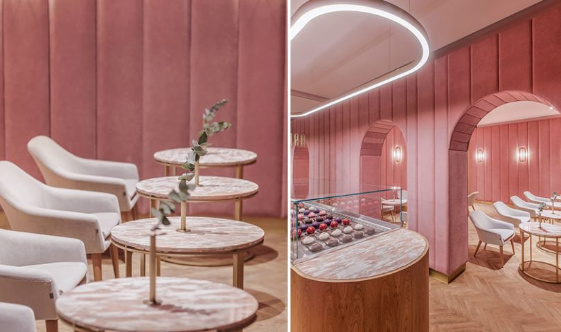 This Polish patisserie is a masterclass in 'Millennial Pink'