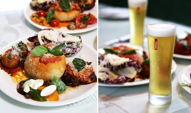 Farina and Peroni team up for an enticing lunch offering