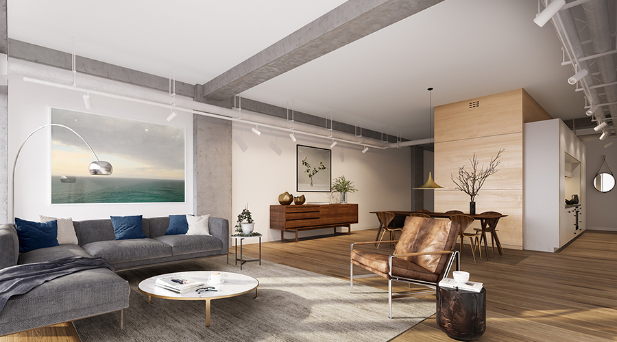 The development bringing loft style warehouse living to for Apartment design nz