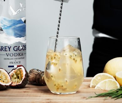Gear up for Denizen Heroes black tie gala with a Grey Goose Passiflora Spritz
