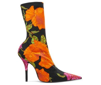 Bold: Balenciaga Floral-print spandex boot