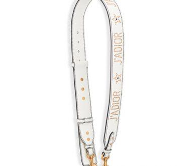 J'adior white studded strap