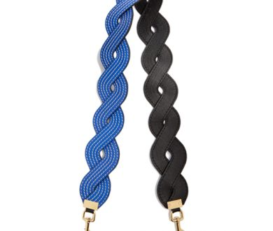 Loewe twisted wave leather bag strap