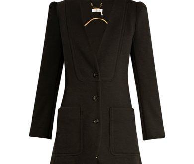 Chloé collarless wool-knit blazer