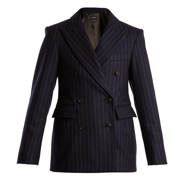 Isabel Marant Jeta double-breasted striped jacket