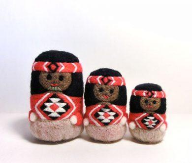 Māori dolls by Poki