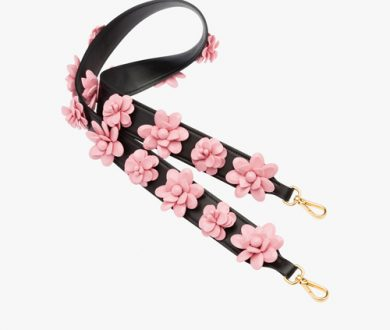Black and Pale Rose guitar strap