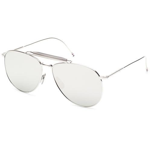 Thom Browne silver aviator sunglasses