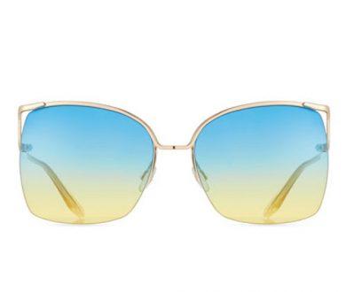 Barton Perriera Satdha semi-rimless sunglasses