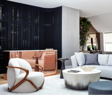 This illustrious London penthouse has been given the royal treatment