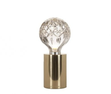 Clear Crystal Bulb table lamp by Lee Broom