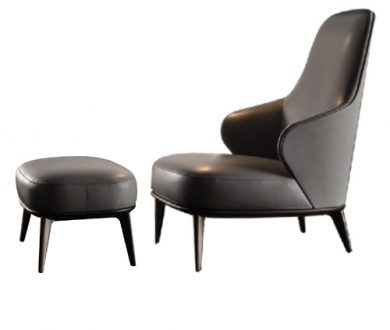 Leslie Bergere armchair & pouf by Rodolfo Dordoni