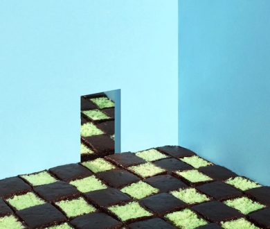 Pistachio Chocolate Chess Floor by Tekla Severin