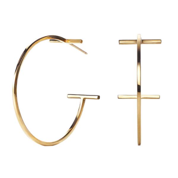 Tiffany & Co. T hoop earrings