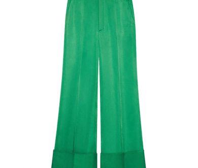 Gucci Duchesse wide leg cuffed pant