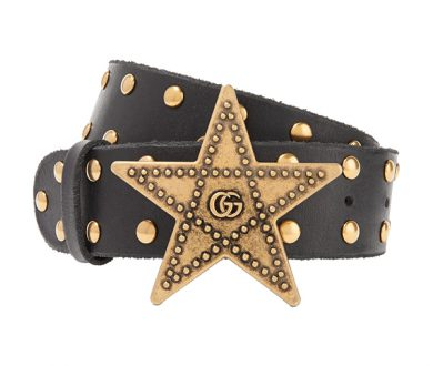 Gucci studded leather belt