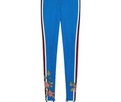 Gucci Embroidered jersey stirrup legging