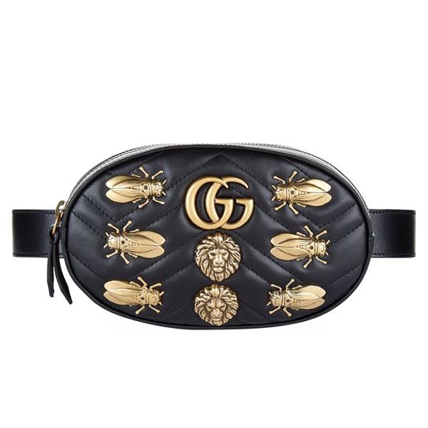 Gucci Marmont animal studs leather belt bag
