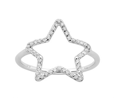 Karen Walker diamond star ring