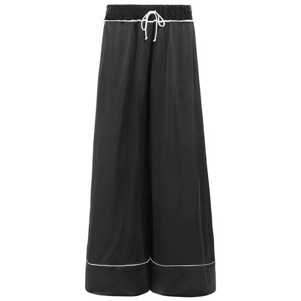 Off-White satin wide-leg pants