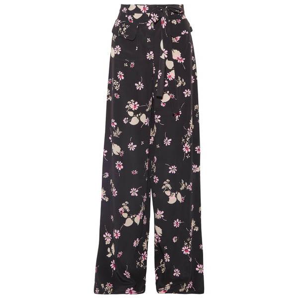 Valentino floral-print silk crepe de chine pants