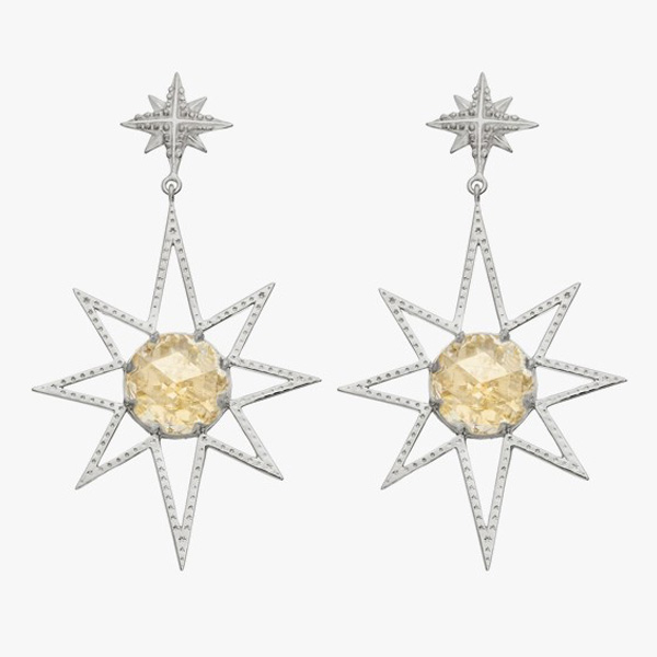 Zoe and Morgan Sun Burst earrings