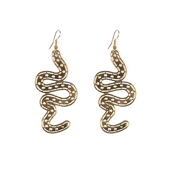 Filigree snake drop earrings