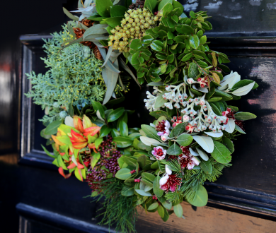 Blush's wreaths are set to give your home a festive façade